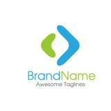 Arrow abstract logo. Vector template, two Arrow shape logo vector Royalty Free Stock Image