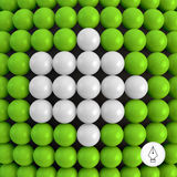 Arrow. Abstract technology background with balls. Stock Image