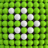 Arrow. Abstract technology background with balls Royalty Free Stock Image