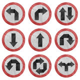 Arrow And Traffic Sign Recycled Paper Stock Images