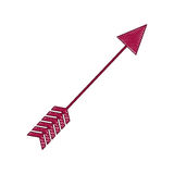Arrow archery icon image Royalty Free Stock Photos