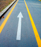 arrow on the asphalt Royalty Free Stock Photography