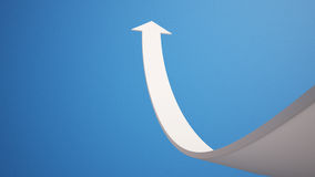 Arrow aspire to Sky with Clipping Path Royalty Free Stock Photo