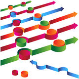 Arrow Avoiding Obstacles. An image of a 3d arrow avoiding obstacles Stock Image