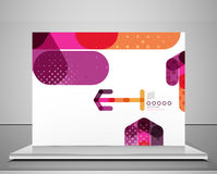 Arrow background abstract geometric template Royalty Free Stock Photography
