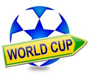 Arrow ball with the words World Cup Royalty Free Stock Images