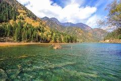 Arrow Bamboo Lake,Jiuzhaigou,north of Sichuan province, China. royalty free stock photos