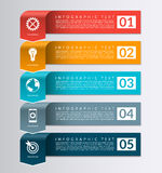 Arrow banner for business infographics. 5 steps design template Royalty Free Stock Images