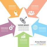 Arrow banner infographic Stock Image