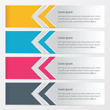 Arrow Banner   yellow, blue, pink color Stock Photo