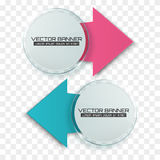 Arrow banners. Glass circle with colorful signs. Infographic template. Vector Stock Photo