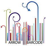 Arrow Barcode Stock Photo