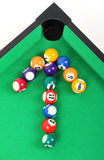 Arrow from billiard balls Royalty Free Stock Photo