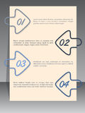 Arrow binding clip infographic with sample text Stock Photography