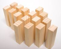 Arrow with Blocks. This is an arrow made with blocks Royalty Free Stock Image