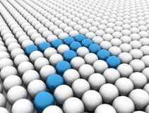 Arrow blue. Blue chrome balls forming an arrow Royalty Free Stock Image