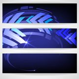 Arrow Blue Background With Place For Your Text. Royalty Free Stock Photography