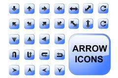 Arrow Blue Buttons Royalty Free Stock Photos