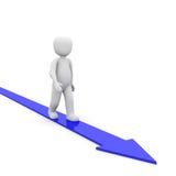 Arrow blue Stock Images