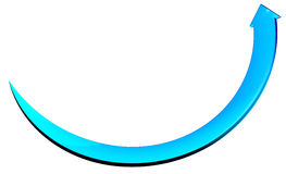 Arrow blue circle curve Royalty Free Stock Image