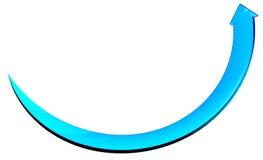 Arrow blue circle curve. 3d arrow blue circle curve Royalty Free Stock Image