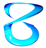 Arrow blue circle curve. 3d arrow blue circle curve Stock Photography