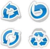 Arrow blue stickers. Royalty Free Stock Photo