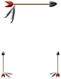 Arrow Border. Indian arrow and feather border over white background,illustration Royalty Free Stock Image
