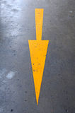 Arrow in both way Stock Photography