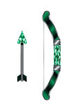 Arrow and Bow Medieval Weapon Royalty Free Stock Photography