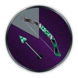 Arrow and Bow in Progress Frame Royalty Free Stock Photos