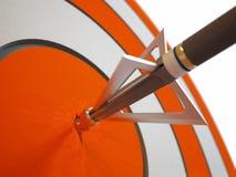 Arrow breaking target Stock Images
