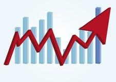 Arrow buiseness graph Royalty Free Stock Photos