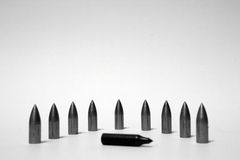 Arrow bullets on the white background Royalty Free Stock Image