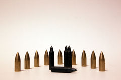 Arrow bullets on the white background Stock Image