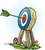 An arrow in bulls eye Stock Photography