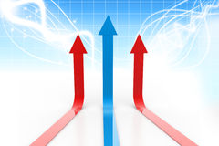 Arrow in business graph Stock Image