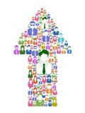 Arrow business people stock illustration