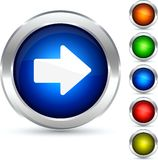 Arrow button. Stock Photo
