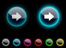 Arrow button. Royalty Free Stock Photos