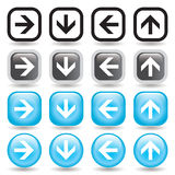 Arrow Button Set Royalty Free Stock Photo