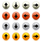 Arrow buttons Royalty Free Stock Image