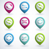 Arrow buttons Stock Image