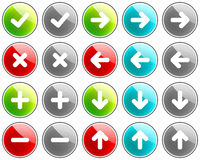 Arrow Buttons. Set of colorful arrow buttons Stock Photos