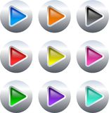 Arrow buttons royalty free illustration