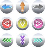 Arrow buttons Royalty Free Stock Photography