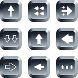 Arrow buttons Stock Photo