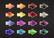 Arrow buttons Stock Photos