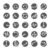 Arrow buttons, arrow icons. Set of 25 arrow buttons, arrow icons Royalty Free Stock Photography