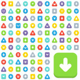 Arrow buttons. Over one hundred different arrow buttons Royalty Free Stock Images